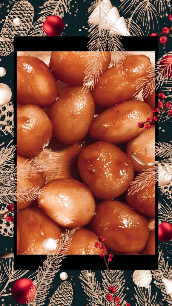 potatoes are a staple denmark food for christmas. Here's a photo of brown potatoes